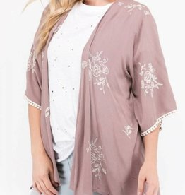 Keep You Around Kimono - Dusty Mauve