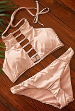 Solids Strappy High Neck- Blush