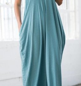 A Lively Love Maxi Dress - Blue
