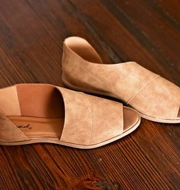 Never To Busy Open Toe Flat - Cognac