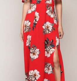 Let There Be Love Maxi Dress - Red