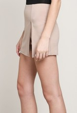 Exception To The Rules Skort - Taupe