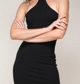 Show Me Excitement Halter Mini Dress - Black