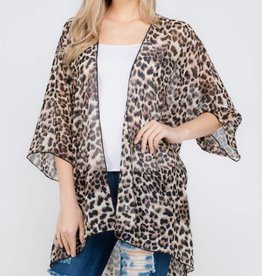 Never Back Down Kimono - Brown
