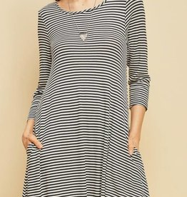 Not Thinking Straight Shift Dress - H. Grey