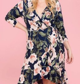 Look Into Your Heart Dress-Blush/Blue