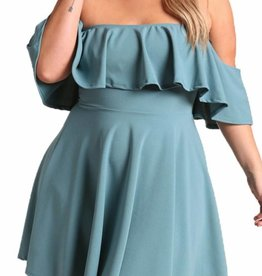 Colorful Confession Dress- Teal