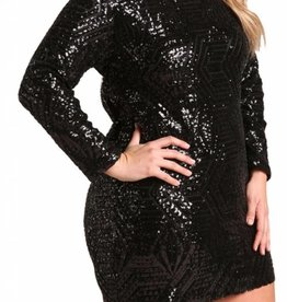 The Sparkle Is Real Dress- Black