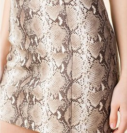 Just Let It Be Mini Skirt - Taupe