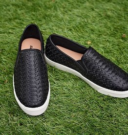Morning Walk Slip On Sneakers - Black