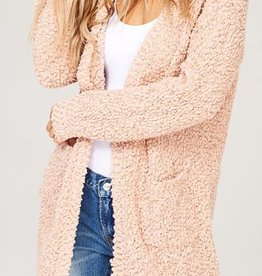 Let's Cuddle Cardigan - Blush