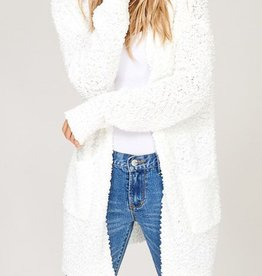 Let's Cuddle Cardigan - Ivory