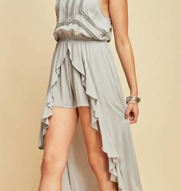 Resort Stay Romper - Grey
