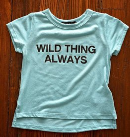 Infant Unisex Wild Thing Always Top- Aqua/Black