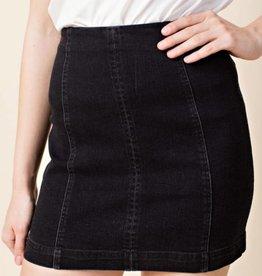 Just Let It Be Mini Skirt - Black