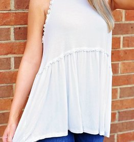 Hippie Girl Top - Ivory
