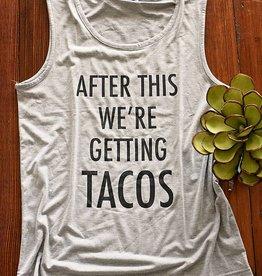 Tacos Tank- Gray