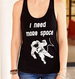 Need More Space Graphic Tank - Black