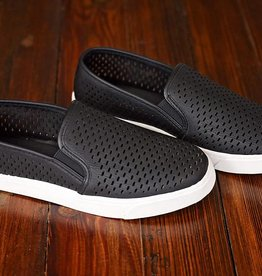 Cutting Ties Slip On Sneakers - Black