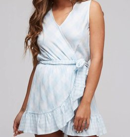 More Than You Know Romper- Ivory/Lt. Blue