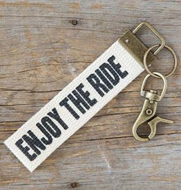 Canvas Key Fob Enjoy The Ride