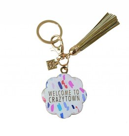 Keychain With Tassel Welcome To Crazytown