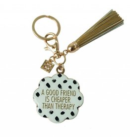 Keychain With Tassel Cheaper Than Therapy