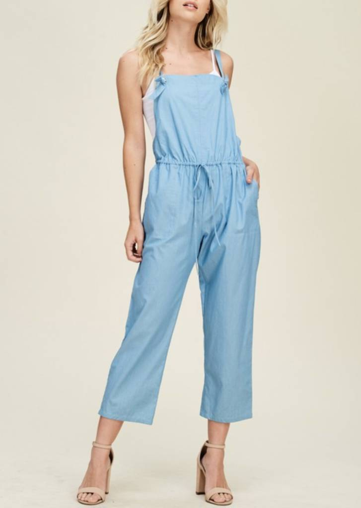 A Perfect Harmony Jumpsuit- Light Blue