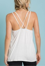 Honeymoonin Graphic Tank- Off White