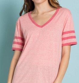 Let's Play Varsity Top - Coral/Red