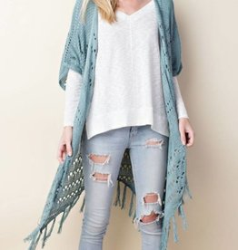 Had Your Shot Cardigan- Dusty Mint