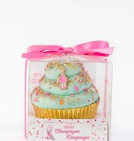 Large Cupcake Bath Bomb- Champagne Campaign