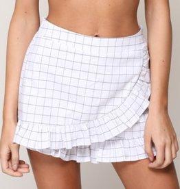 Brace Yourself Ruffle Shorts- Off White