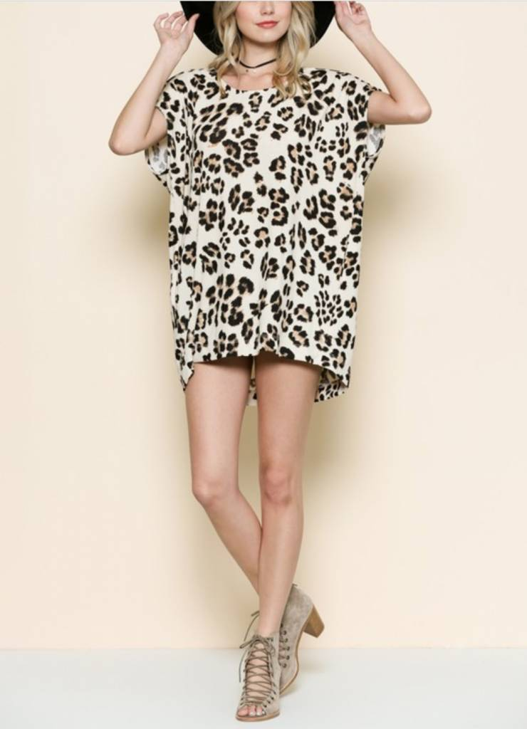 The Run Around Tunic- Leopard