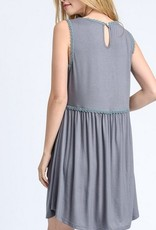 Brave Enough To Dream Smocked Dress - Charcoal