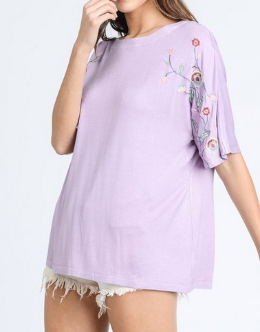 Breezing Through The Day Top - Lilac