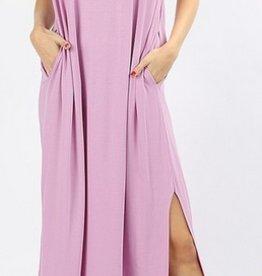 Be A Little Sweetie Maxi Dress-Mauve
