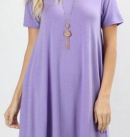 I'm So Basic Dress - Lavender