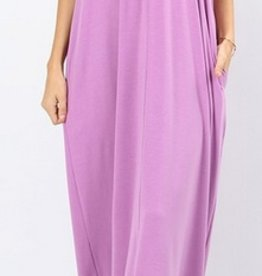 A Lively Love Maxi Dress - Dk Mauve