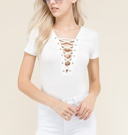 My Wish Came True Bodysuit- Soft White