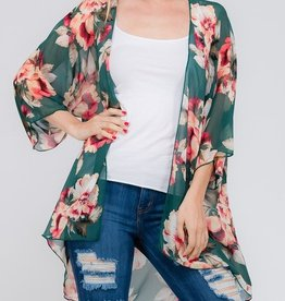 Show Your Love Kimono- Teal