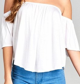 Constant Reminder Off Shoulder Top- Off White