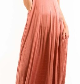A Lively Love Maxi Dress - Marsala