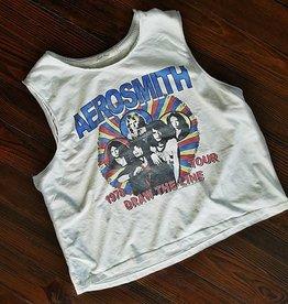 Aerosmith '78 Tour Crop Top- Vintage White