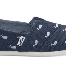 Classics Oceana Washed Canvas Whales- Navy