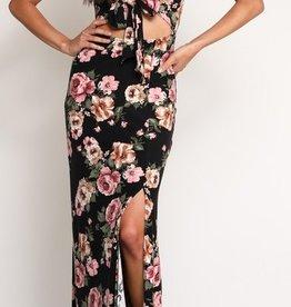 Spring Sweethearts Maxi Dress - Black