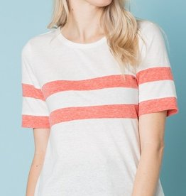 Seeing Double Top - White/Tangerine
