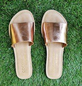 Cabana Slide Sandal- Rose Gold