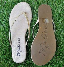 Malibu Thong Sandal- Gold Frost