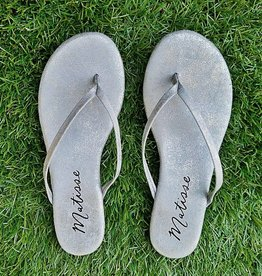 MATISSE Malibu Thong Sandal - Grey Frost